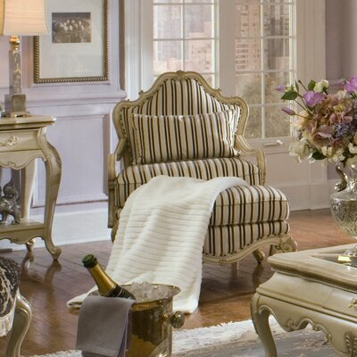 Lavelle Bergere Chair Upholstery Color: Topaz / Blanc