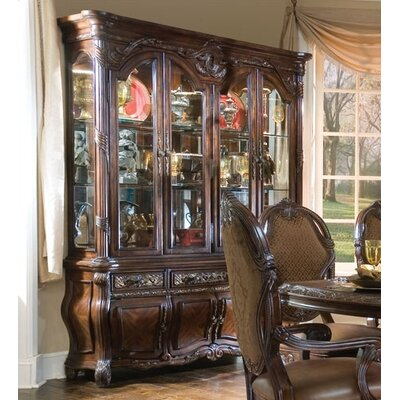Image of AICO Essex Manor China Cabinet in Deep English Tea (ICO2366)