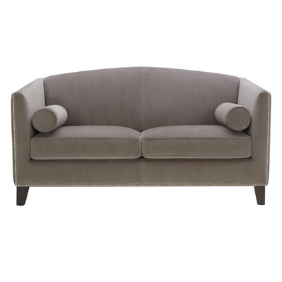 Portico Loveseat Color: Grey