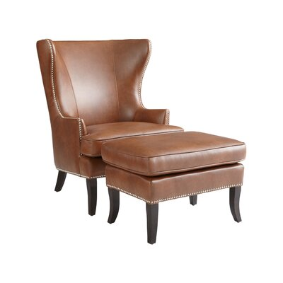 Sunpan Modern Royalton Bonded Leather Armchair and Ottoman at Sears.com