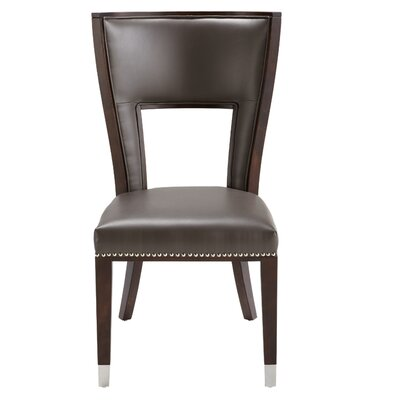 5West Naples Genuine Leather Upholstered Dining Chair Finish: Grey