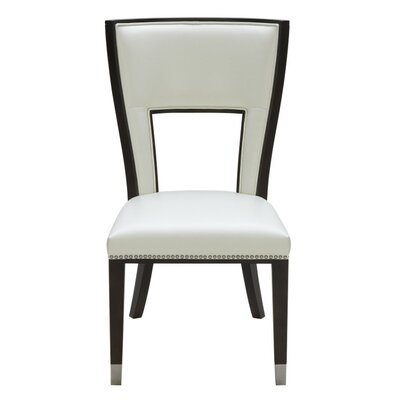 5West Naples Genuine Leather Upholstered Dining Chair Finish: Ivory