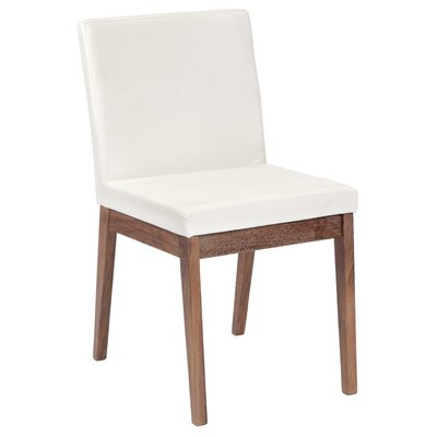 Branson Side Chair (Set of 2) Upholstery: White