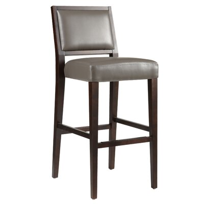 5West 30 Bar Stool Color: Grey