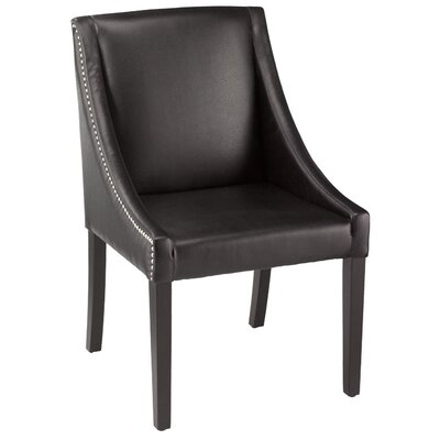 5West Lucille Arm Chair Upholstery: Leather - Black