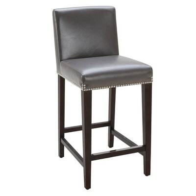Brooke 25.5 Bar Stool Seat Color: Grey