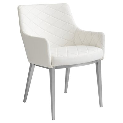 Ikon Chase Armchair Upholstery: White