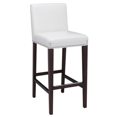 Brooke 29.5 Bar Stool Seat Color: Ivory