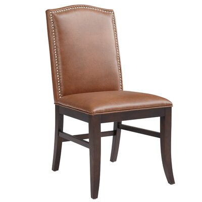 5West Maison Side Chair (Set of 2) Upholstery: Cognac