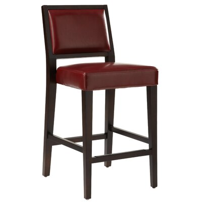 5West 26 Citizen Bar Stool Upholstery: Oxblood