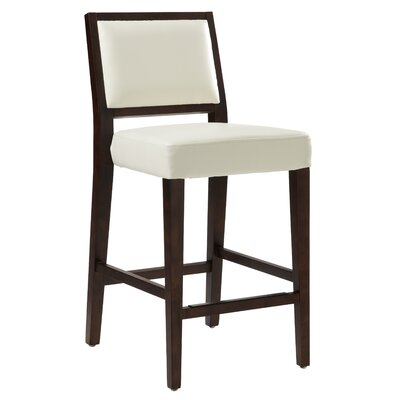 5West 26 Citizen Bar Stool with Cushion Upholstery: Ivory