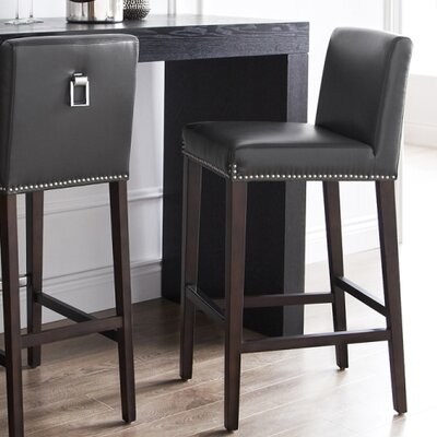 Brooke 29.5 Bar Stool Seat Color: Grey
