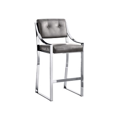 Club Savoy 29.5 Bar Stool Upholstery: Grey Nobility