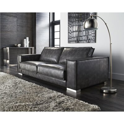 Club Baretto Sofa Upholstery: Grey