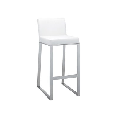 Ikon Architect Bar Stool Upholstery: White