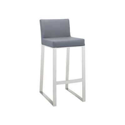 Ikon Architect Bar Stool Upholstery: Gray