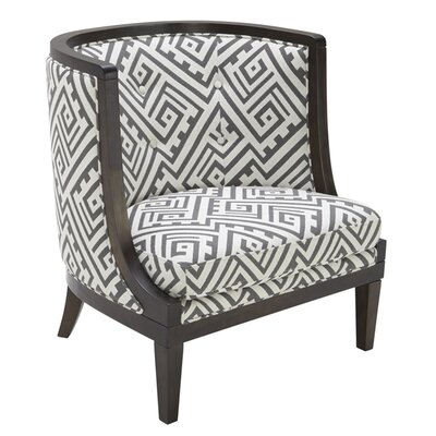 5West Barrel Chair Upholstery: Grey