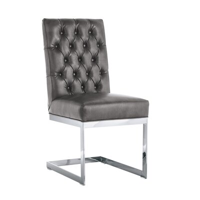 Club Cavalli Genuine Leather Upholstered Dining Chair (Set of 2)