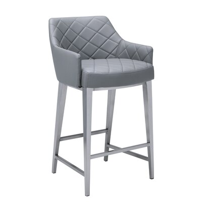 Ikon Chase 30 Counter Stool with Cushion Upholstery: Gray
