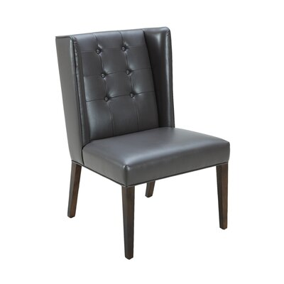 5West Clarkson Side Chair Upholstery: Rhino Grey Leather