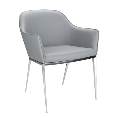 Ikon Stanis Arm Chair Upholstery: Grey
