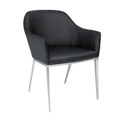 Ikon Stanis Arm Chair Upholstery: Black