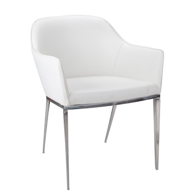 Ikon Stanis Arm Chair Upholstery: White