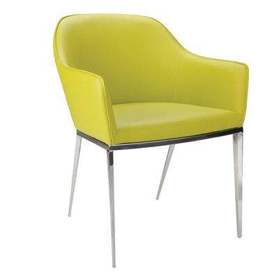 Ikon Stanis Arm Chair (Set of 2) Upholstery: Lime
