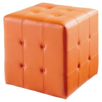Urban Unity Dario Cube Ottoman Upholstery: Orange