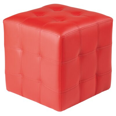Urban Unity Dario Cube Ottoman Upholstery: Red