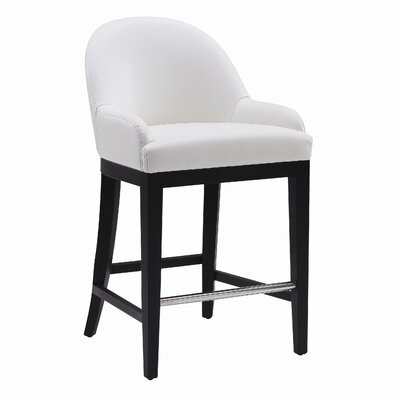 5West Haven 26 Bar Stool Upholstery: Ivory