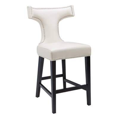 5West 26 Serafina Bar Stool Upholstery: Cream