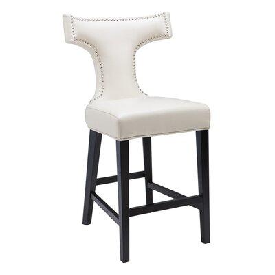 5West 26 Serafina Bar Stool with Cushion Upholstery: Cream