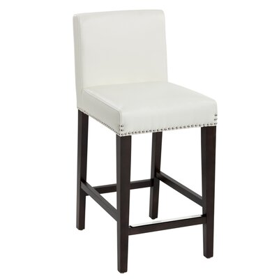 Brooke 25.5 Bar Stool Seat Color: Ivory