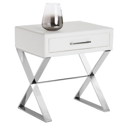 Club Casa End Table Color: White Nobility