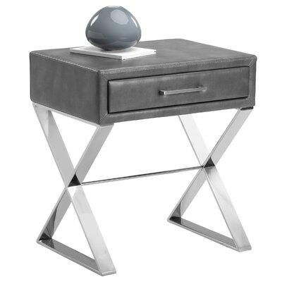 Club Casa End Table Color: Grey Nobility