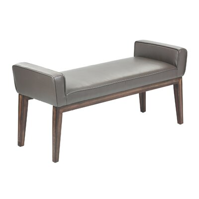 Harrod Wood Bedroom Bench Color: Stencil Grey