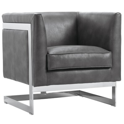 Club Soho Armchair Upholstery: Grey Nobility