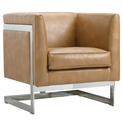 Club Soho Armchair Upholstery: Peanut Nobility