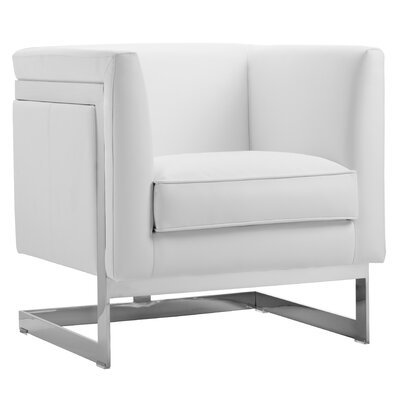 Club Soho Armchair Upholstery: White Nobility