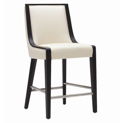 Newport 30 inch Bar Stool Seat Height: Counter (26 inch), Color: Cream