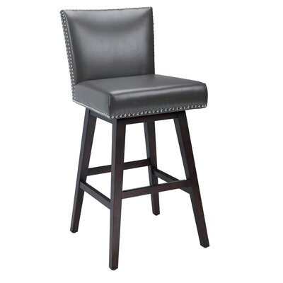 West Vintage 30 Swivel Bar Stool Upholstery: Grey