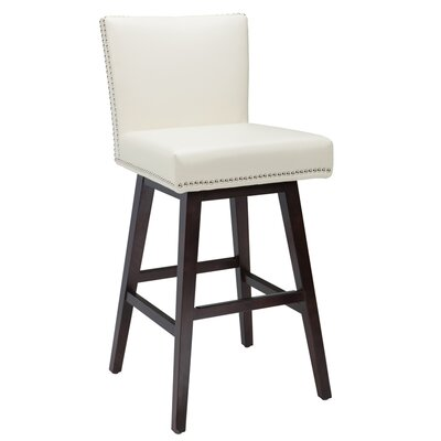 West Vintage 30 Swivel Bar Stool Upholstery: Cream