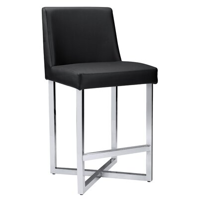 Ikon Howard Bar Stool Upholstery: Black