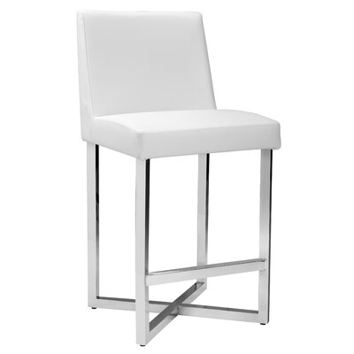 Ikon Howard Bar Stool Upholstery: White