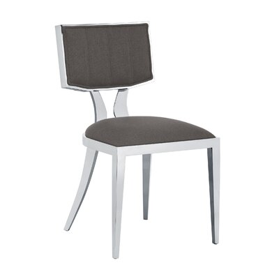 Ikon Natalia Side Chair (Set of 2) Upholstery: Grey