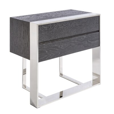 Club Dalton End Table Color: Black