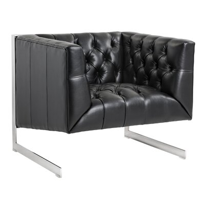 Club Viper Armchair Color: Black