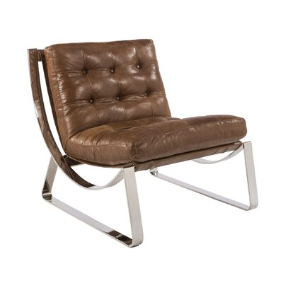 Club Tryst Lounge Chair Upholstery: Brown
