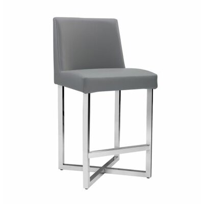 Ikon Howard Counter Stool Upholstery: Grey